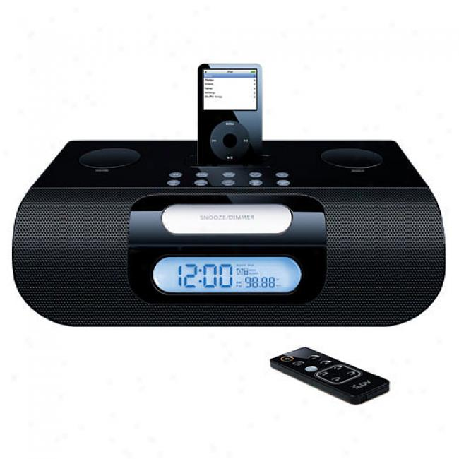 Iluv Ipod Bluetooth Alarm Clock Radio, Black