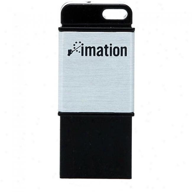 Imation 4gb Atom Usb Flash Drive, Black & Gentle