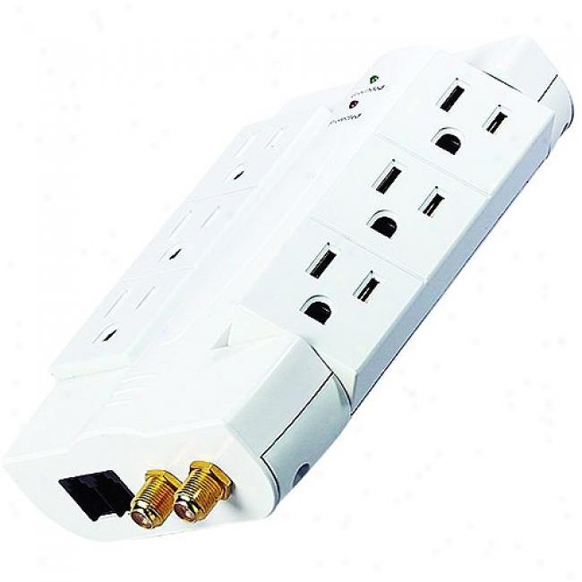Inland 6-outlet Swibel Surge