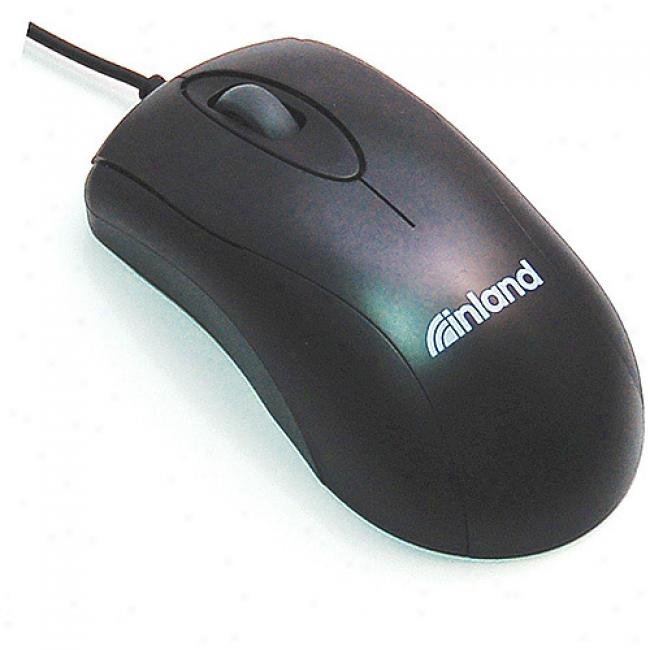 Inland U-click Black Optical Usb Mouse