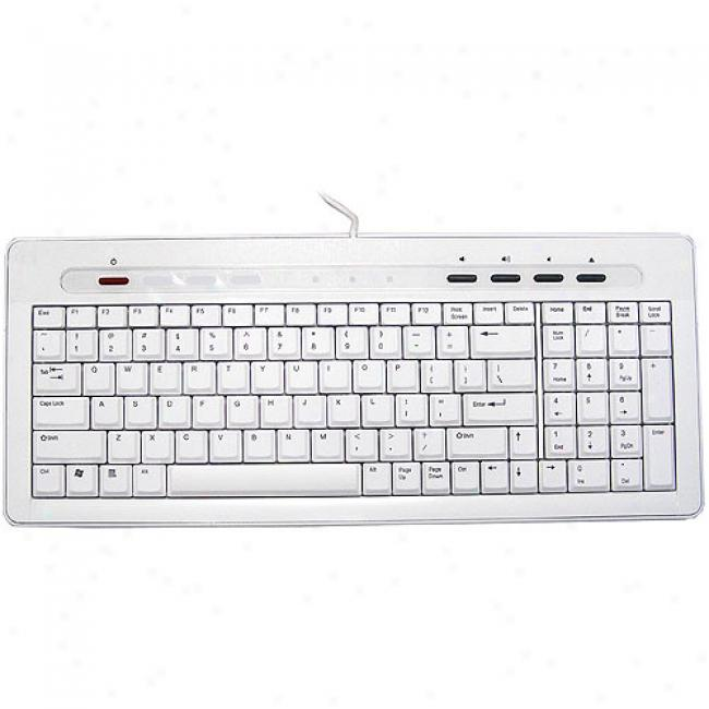Inland Usb White Keyboard For Mac And Pc