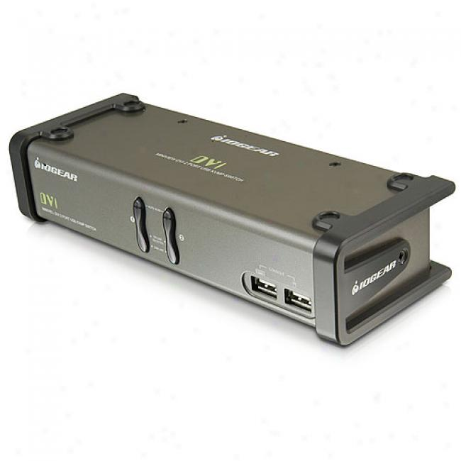 Iogear 2-port Miniview Dvi Kvm Switch