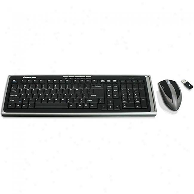 Iogear 2.4ghz Keyboard & Mose Wireless Combo Set