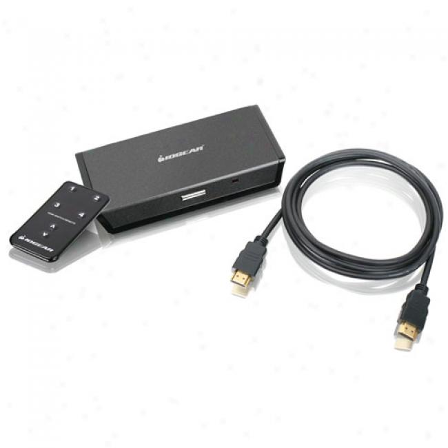 Iogear 4-port Automatic Hdmi Switch With Remote Control