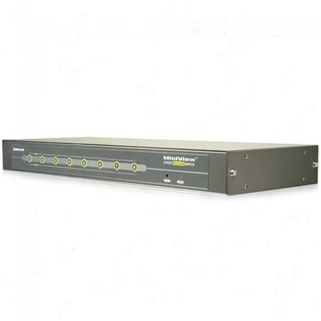 Iogear 8-port Kvm Switch Ps/2