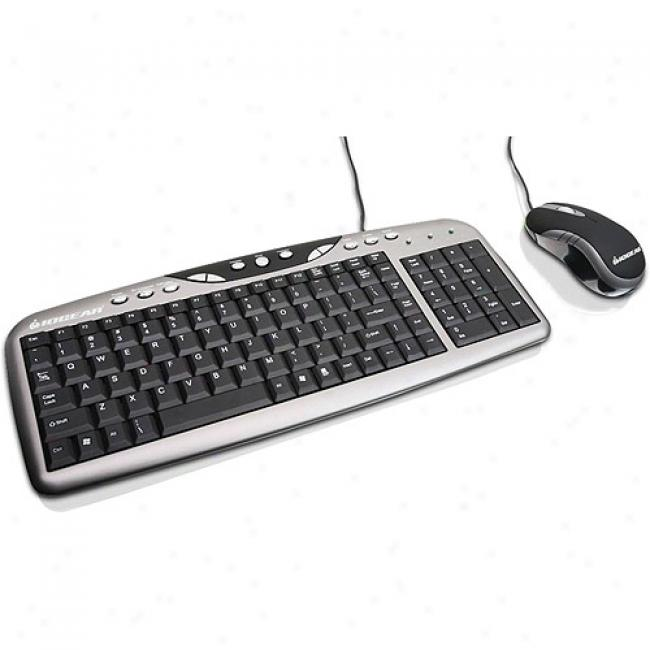 Iogear Compact Desktop Keyboard And Peer Combo