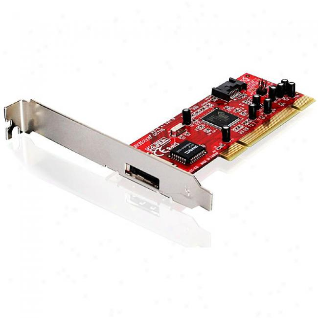 Iogear Esata 1.5gpbs Pci Card For Desktop Pc