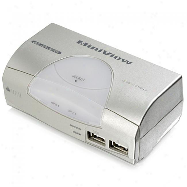 Iogear Miniview 2-port Usb Kvm Switch