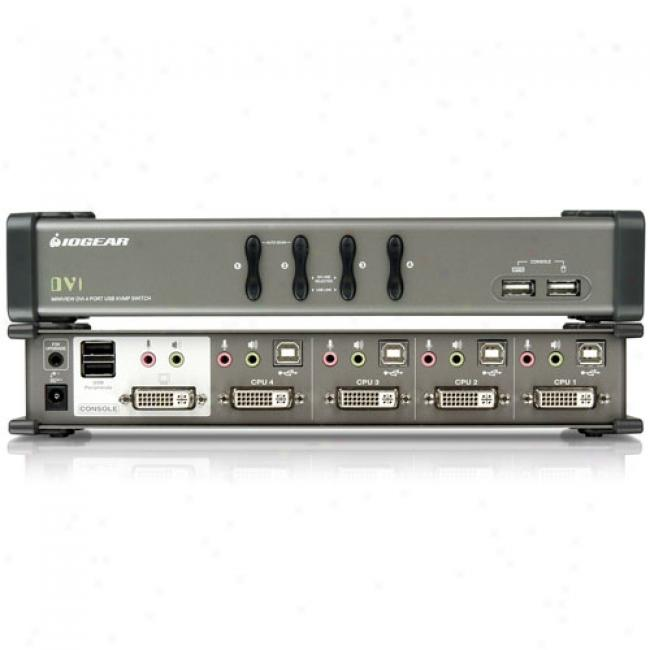 Iogear Miniview 4-port Dvi Kvmp Switch