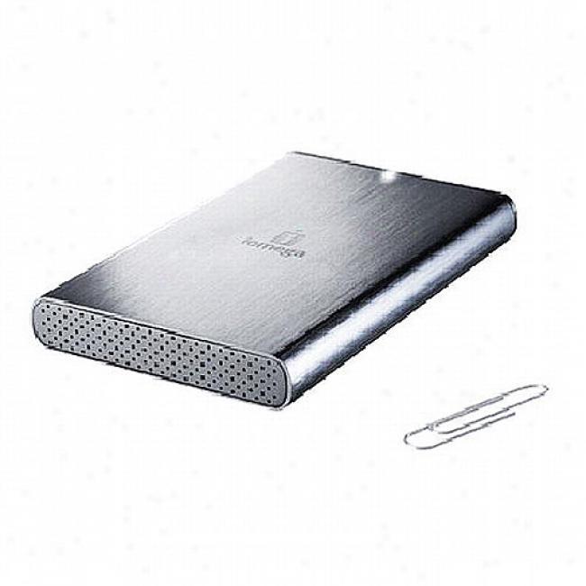 Iomegq 500gb Prestige Portable Hard Drive, Usb 2.0