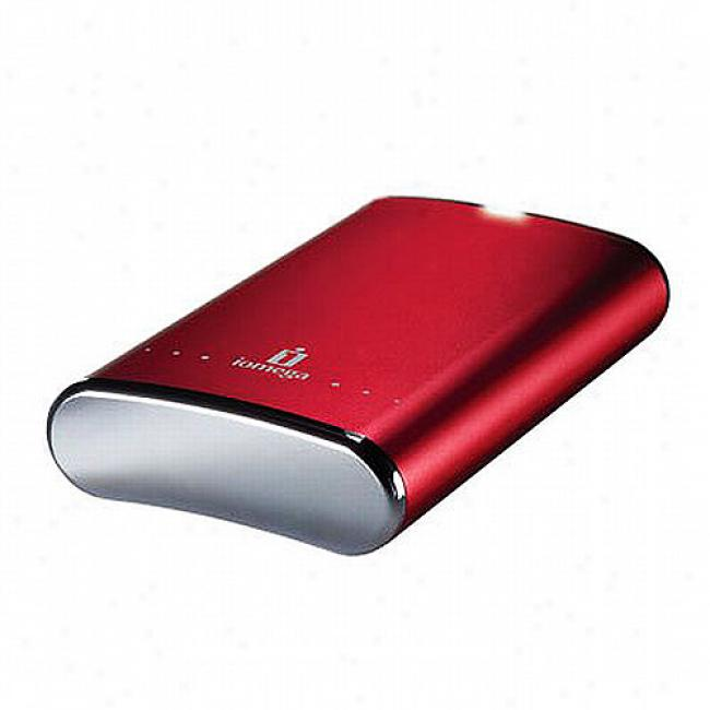 Iomega Ego Desktop Hard Druce, Usb 2.0, 1tb, Ruby Red