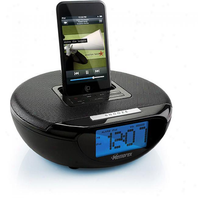 Ipod Clock Radio Speaker System With 4 Neodymium Speakers