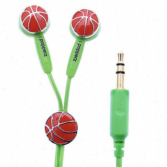 Ipopperz Basketball Earbud Headphones
