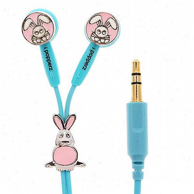 Ipoppdrz Baxter Bunny Earbud Headphones