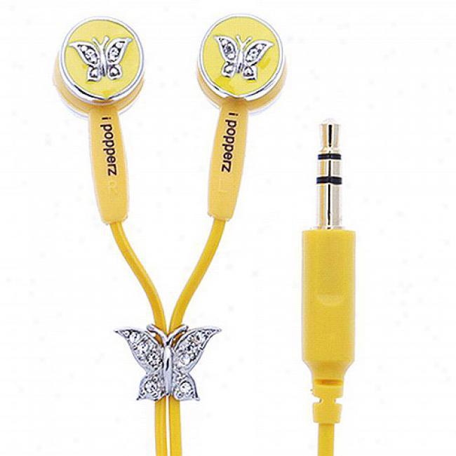 Ipopperz Butterfly Earbd Headphones