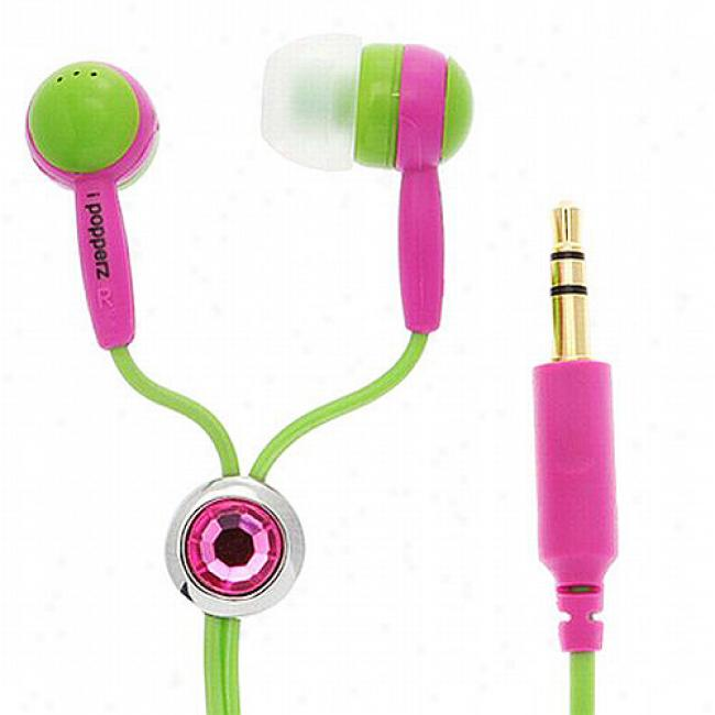 Ipopperz Green/pink/green Earbud Headphones