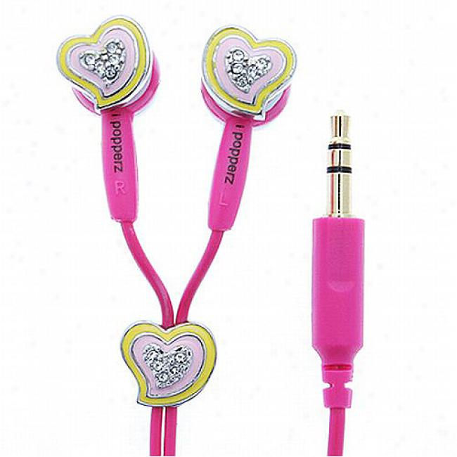 Ipopperz HeartsE arbud Headphones