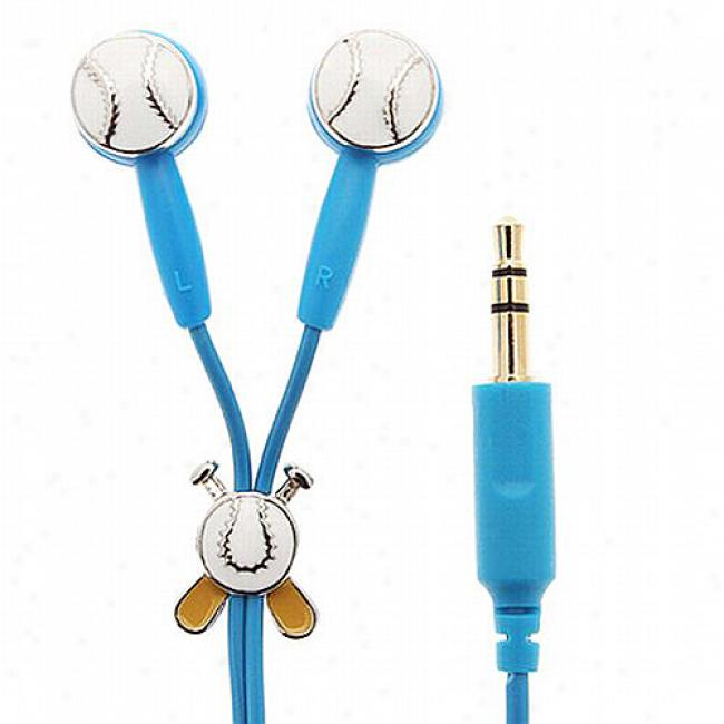 Ipopperz Homerun Baseball Earbud Headphones