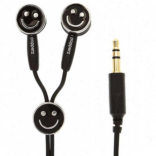 Ipopperz Smiling Earbud Headphones