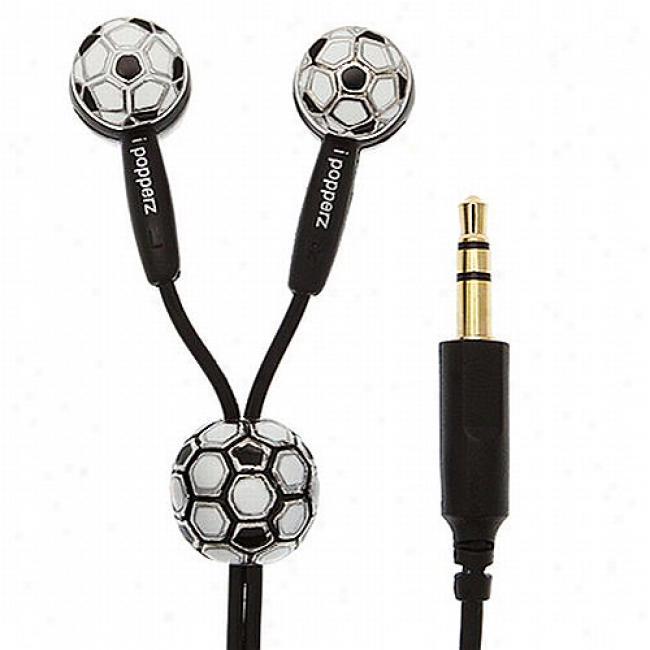 Ipopoerz Soccer-themed Earbud Headphones
