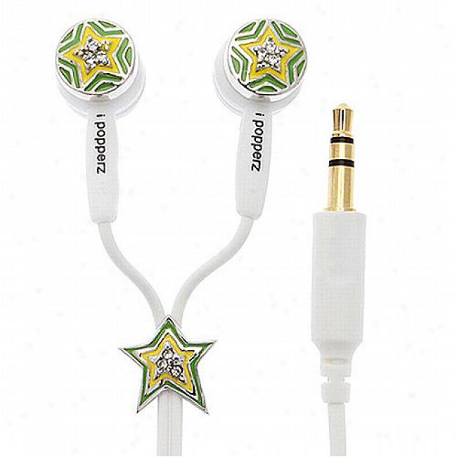 Ipopperz Star Earbud Headphones