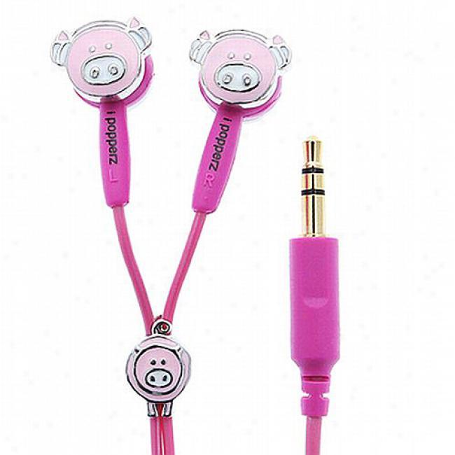 Ipopperz Wiggly Pig Earbud Headphones