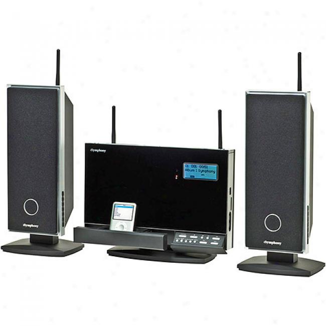 Isymphony 120-watt Expandable Wirelless Micro Speaker System With Built-in Universal Ipod Dock, W2