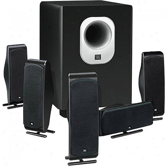 Jbl 5.1-channel Surround Cinema Speaker Scheme With 10