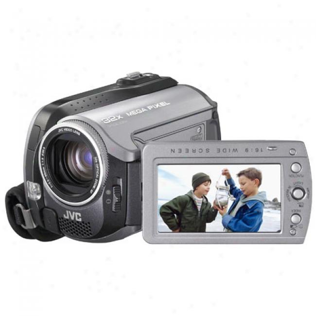 Jvc Everio Gz-mg155 30 Gb Hard Drive Digital Camcorder With Dock, 32x Optical/800x Digital Zoom, Sdhc Compatibility