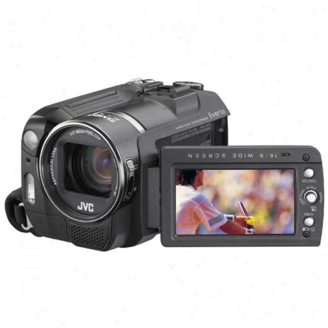 Jvc Everio Gz-mg555 30 Gb Hard Drive Digital Camcorder With Dock, 10x Optical, Sdhc Compatibility
