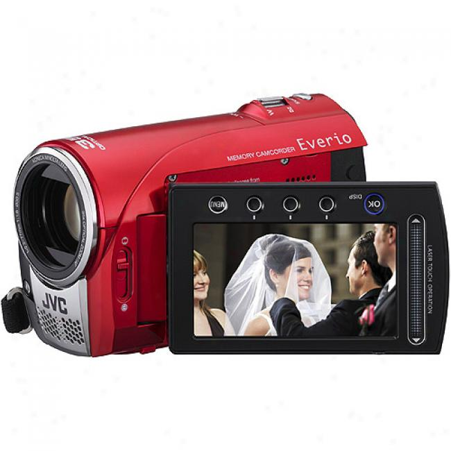 Jvc Everio Gz-ms100 Red ~ Digital Flash Memory Camcorder W/ 35x Optical Zoom & Sf Card Slot