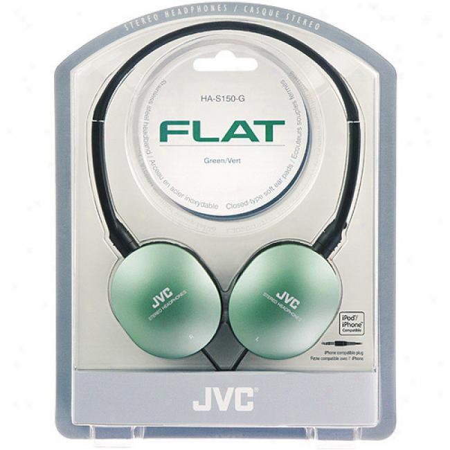 Jvc Fl5a Gumy Headphones, Has150g Green