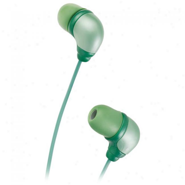 Jvc Marshmallow Steteo Headphones, Ha-fx34g Green