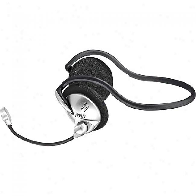 Jwin Pc/gaming tSereo Backphone Headset With Microphone