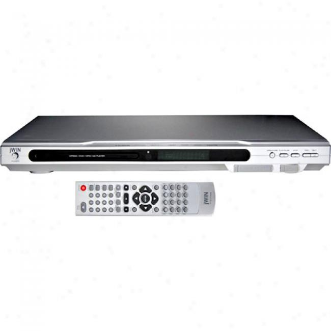 Jwin Progressive Scan 1080p Up-conversion Dvd Player W/ Included Hdmi Cable