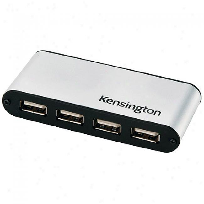 Kensington 4-port Usb 2.0 Mini Pockethub - Ac Adapter