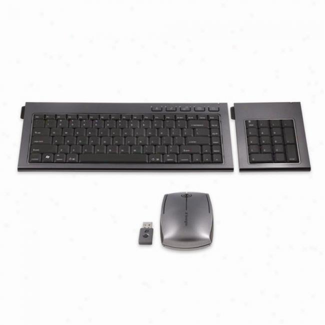 Kensington Slimblade Media Notebook Set, Includes Wireless Keyboard, Mouse & Keypad