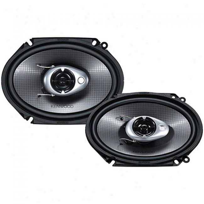 Kenwood Performance Series 6'' X 8'' 3-way Cr Speakers, Kfc-c6882ie