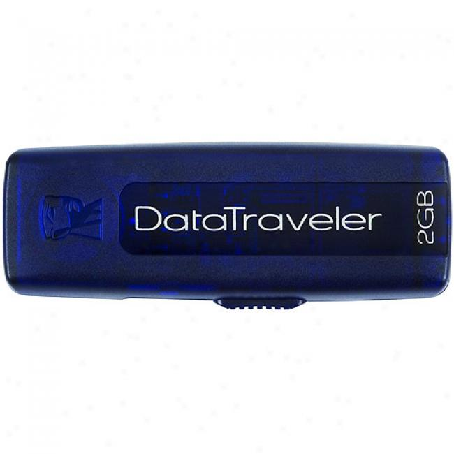 Kingston 2gb Datatraveler 100 Usb Flash Drive, Blue