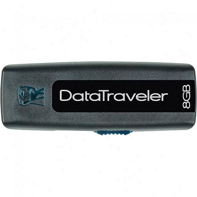 Kingston 8gb 2.0 Hi-speed Datatraveler 100 Usb Flash Drive, Black