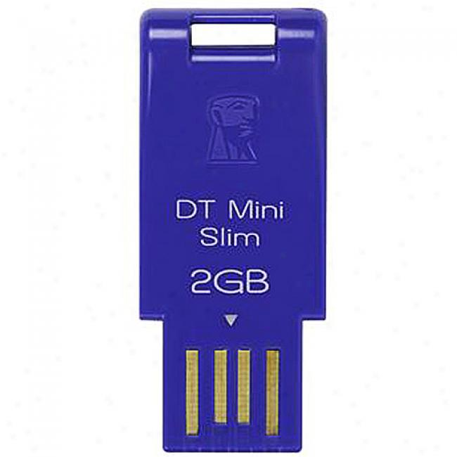 Kingston Datatraveler Mini Slim Flasb Drive - 2gb, Blue