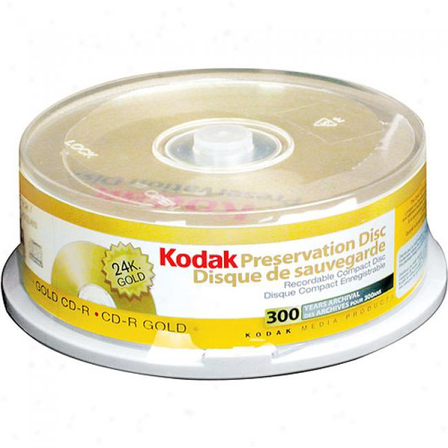 Kodak 52x Gold Preservation Write-once Cd-r - 25 Pack