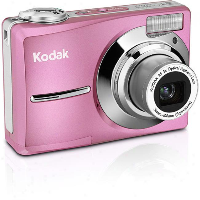 Kodak Easyshare C913 Pink ~ 9.2mp Digital Camera W/ 3x Optical Zoom & Image Stabilization