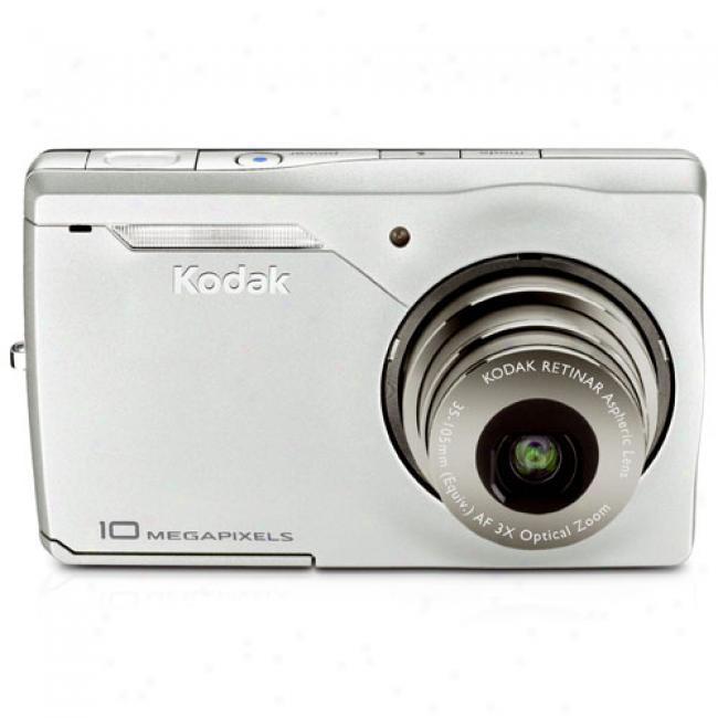 Kodak Easyshare M1033 Silver 10mp Digital Camera With Digital Image Stabilization, 3x Optical Zoom