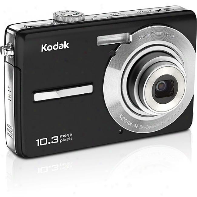 Kodak Easyshate M1063 Black 10.3mp Digital Camera W/ 3x Opptical Zoom & Face Detection
