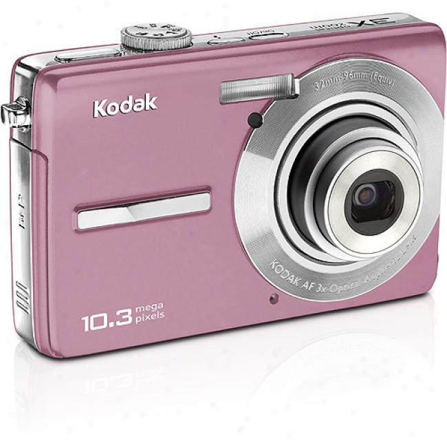 Kodak Easyshare M1063 Pink 10.3mp Digital Camera W/ 3x Optical Zoom & Face Detection