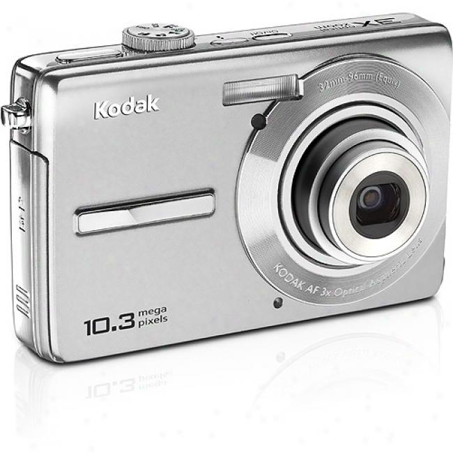 Kodak Easyshare M1063 Silver 10.3mp Digital Camera W/ 3x Optical Zoom & Face Detection