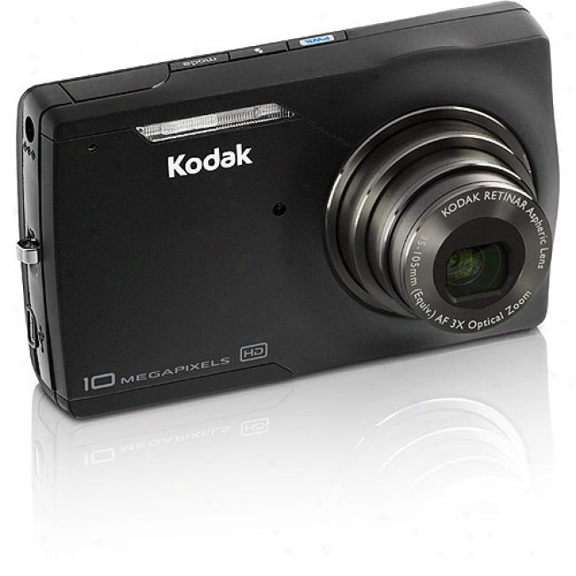 Kodak Easyshare M1093-is Dark 10mp Digital Camera W/ 3x Optical Zoom & Face Detection