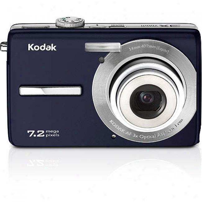 Kodak Easyshare M763 Blue 7.2 Mp Digital Camera With Digital Image Stabilization, 3x Optical Zoom