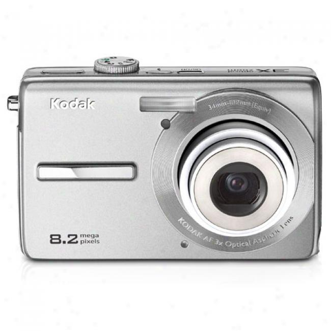 Kodak Easywhare M863 Silver 8.2 Mp Digital Camera W/ 3x Optical Zoom & Image Stabilization
